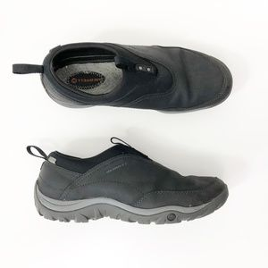 Merrell Leather Slip On Leather Sneakers, size 9